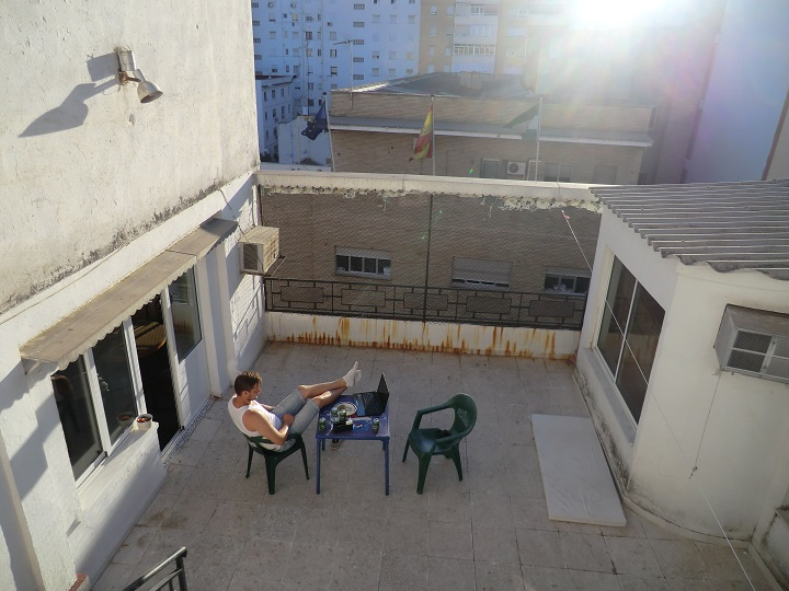 Maailman paras kattoterassi Malagan kodissamme.